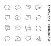 speech bubble icons. | Shutterstock .eps vector #502742671