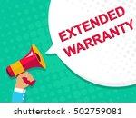 flat illustration of megaphone... | Shutterstock .eps vector #502759081