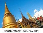 wat phra kaew  and temple... | Shutterstock . vector #502767484