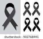 black awareness ribbon ... | Shutterstock .eps vector #502768441