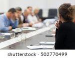 business meeting  | Shutterstock . vector #502770499
