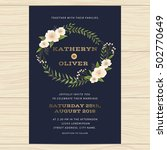 wedding invitation card... | Shutterstock .eps vector #502770649