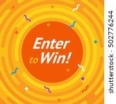 orange background. winer sign.... | Shutterstock .eps vector #502776244
