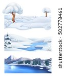 christmas background. winter... | Shutterstock .eps vector #502778461