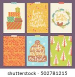 vector collection of christmas... | Shutterstock .eps vector #502781215