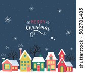 merry christmas greeting card ...   Shutterstock .eps vector #502781485