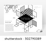 Geometric background Template for covers, flyers, banners, posters and placards, may be used for presentations and book covers, EPS10 vector illustration | Shutterstock vector #502790389