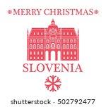 merry christmas  slovenia | Shutterstock .eps vector #502792477