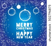 christmas greeting card with... | Shutterstock .eps vector #502796875