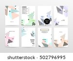 geometric background template... | Shutterstock .eps vector #502796995