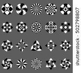 vector set of abstract... | Shutterstock .eps vector #502798807