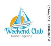 logo logotype travel tourist... | Shutterstock .eps vector #502799674