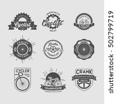bicycle badge and logo | Shutterstock .eps vector #502799719