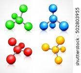 molecule. science molecular... | Shutterstock .eps vector #502803955
