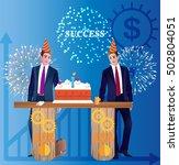 vector business concept...   Shutterstock .eps vector #502804051