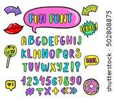 vector kids english alphabet in ... | Shutterstock .eps vector #502808875