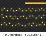 garlands  christmas decorations ... | Shutterstock .eps vector #502815841
