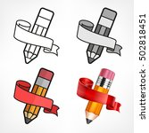 different style drawing pencil...   Shutterstock .eps vector #502818451