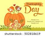 thanksgiving day card | Shutterstock .eps vector #502818619