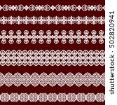 set of white borders isolated... | Shutterstock .eps vector #502820941