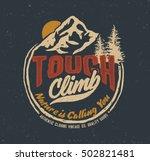 college. trekking.  vintage tee ... | Shutterstock .eps vector #502821481