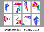 geometric background template... | Shutterstock .eps vector #502822615