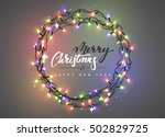 merry christmas and happy new... | Shutterstock .eps vector #502829725