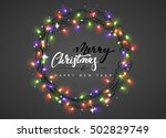 merry christmas and happy new... | Shutterstock .eps vector #502829749