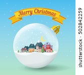 transparent christmas ball.... | Shutterstock .eps vector #502842259