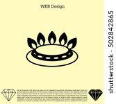 gas burner icon. vector design | Shutterstock .eps vector #502842865