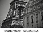 an old and classic building... | Shutterstock . vector #502850665