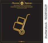 web line icon. trolley | Shutterstock .eps vector #502853029