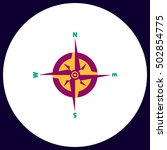 compass simple vector button....