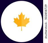 canadian leaf simple vector...