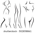 set of elements of the body of... | Shutterstock . vector #502858861