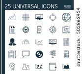 set of 25 universal editable... | Shutterstock .eps vector #502863454