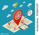 geo location  navigation flat... | Shutterstock .eps vector #502864159