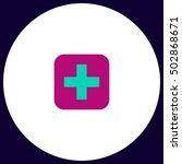 medicine simple vector button....