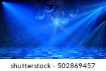 blue disco dance floor with... | Shutterstock . vector #502869457