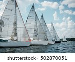 sailing yacht race  picture... | Shutterstock . vector #502870051