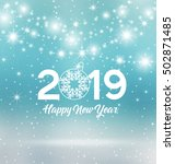 happy new year 2019  vector... | Shutterstock .eps vector #502871485