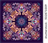 design for square pocket  shawl ... | Shutterstock . vector #502873309