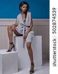 beautiful black woman's... | Shutterstock . vector #502874539