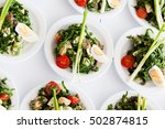 many plates of vegetable salad... | Shutterstock . vector #502874815