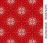 winter holiday knitted pattern... | Shutterstock .eps vector #502876291