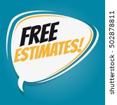 free estimates retro speech... | Shutterstock .eps vector #502878811