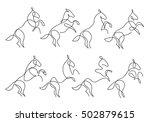one line horse design... | Shutterstock .eps vector #502879615