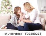 portrait of beautiful mother... | Shutterstock . vector #502880215