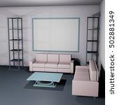 interior mockup in soft light... | Shutterstock . vector #502881349