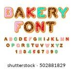 bakery font donut abc baked